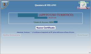 nuovo certificato alloggiati web