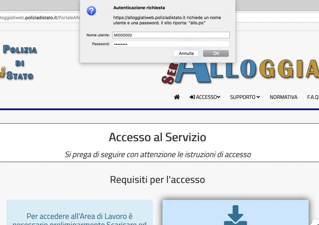 NUOVO CERTIFICATO ALLOGGIATI WEB SCARICA